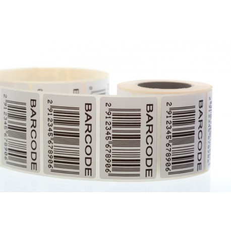 Labels 50 X 25 mm, Thermal Transfer Barcode Labels,Permanent Adhesive, 1000  Labels In Roll